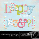 Feelin Happy Alphabet Pack-$1.00 (Ettes and Company by Fayette)