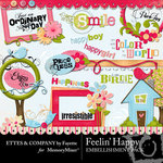 Feelin Happy Embellishment Pack-$3.50 (Ettes and Company by Fayette)