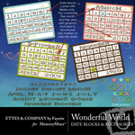 Wonderful Date Blocks-$2.00 (Ettes and Company by Fayette)