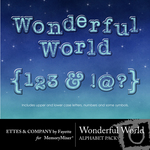 Wonderful World Alphabet Pack FE-$1.00 (Ettes and Company by Fayette)