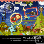 Wonderful World Embelllishment Pack FE-$3.50 (Ettes and Company by Fayette)