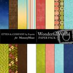 Wonderful World Paper Pack FE-$3.99 (Fayette Designs)