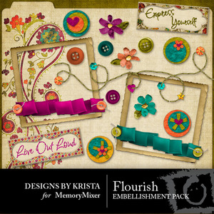 Flourish embellishment medium
