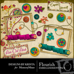 Flourish Embellishment Pack-$3.00 (Designs by Krista)