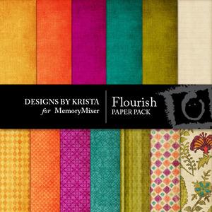 Flourish papers medium