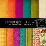 Flourish Paper Pack-$4.00 (Designs by Krista)