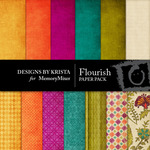 Flourish Paper Pack-$4.00 (Designs by Krista)