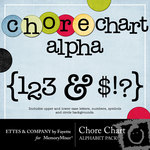 Chore Chart Alphabet Pack-$1.00 (Ettes and Company by Fayette)