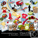 Chore Chart Embellishment Pack-$3.50 (Ettes and Company by Fayette)