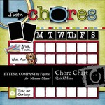 Chore Chart QuickMix-$3.00 (Ettes and Company by Fayette)