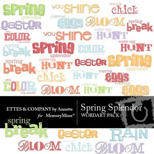 Spring spendor wordart medium