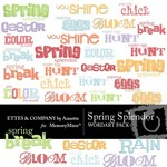 Spring spendor wordart small