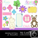 My Little Bunny Embellishment Pack-$3.00 (Melissa Nuttall)