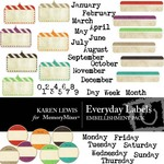 Everyday Labels Embellishment Pack-$2.49 (Karen Lewis)