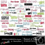 Sweet n Sassy WordArt Pack-$1.99 (Ettes and Company by Annette)
