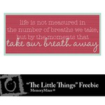 The Little Things WordArt 12 Freebie-$0.00 (Lasting Impressions)