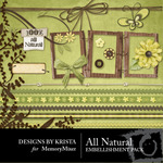All Natural Embellishment Pack-$3.00 (Designs by Krista)