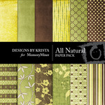 All Natural Paper Pack-$4.00 (Designs by Krista)
