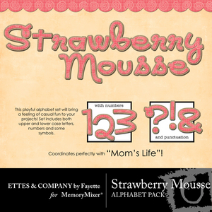 Strawberrymoussemonograms medium
