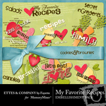 My Favorite Recipes Embellishment Pack-$3.50 (Ettes and Company by Fayette)