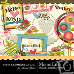 Mom's Life Embellishment Pack-$3.50 (Ettes and Company by Fayette)