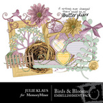 Birds Blooms Embellishment Pack-$2.99 (Julie Klaus)