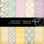 Birds Blooms Paper Pack-$4.00 (Julie Klaus)