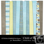 Child of My Child Boy Paper Pack-$4.00 (Ettes and Company by Fayette)