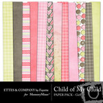 Child of My Child Girl Paper Pack-$4.00 (Ettes and Company by Fayette)