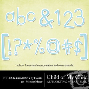 Comc monograms babyblue medium