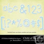 Child of My Child Blue Alphabet Pack-$1.00 (Ettes and Company by Fayette)