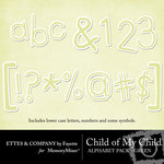Child of My Child Green Alphabet Pack-$1.00 (Ettes and Company by Fayette)