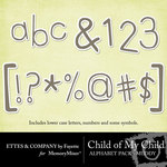 Child of My Child Muddy Alphabet Pack-$1.00 (Ettes and Company by Fayette)