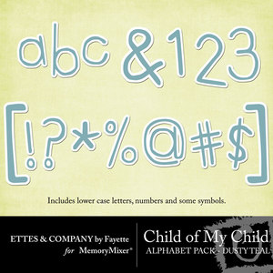 Comc monograms dustyteal medium