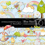 Blue Skies Embellishment Pack-$3.50 (Ettes and Company by Fayette)