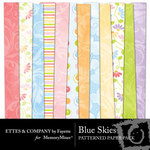 Blue Skies Patterned Paper Pack-$4.00 (Ettes and Company by Fayette)