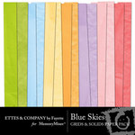Blue Skies Solid Paper Pack-$4.00 (Ettes and Company by Fayette)