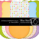 Blue Skies Shapes Embellishment Pack-$3.00 (Ettes and Company by Fayette)