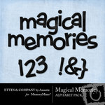 Magical Memories Alphabet Pack-$1.00 (Ettes and Company by Annette)