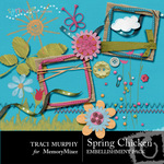 Spring Chicken Embellishment Pack-$2.99 (Traci Murphy)