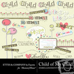 Child of My Child Grandma Embellishment Pack-$3.50 (Ettes and Company by Fayette)