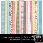 Child of My Child Grandma Paper Pack-$4.00 (Ettes and Company by Fayette)