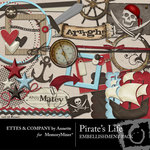 Pirates Life Embellishment Pack-$3.45 (Ettes and Company by Annette)