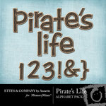 Pirates Life Alphabet Pack-$1.00 (Ettes and Company by Annette)