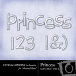 Princess Alphabet Pack-$1.00 (Ettes and Company by Annette)