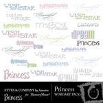 Princess WordArt Pack-$2.00 (Ettes and Company by Annette)