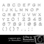 A Day To Remember Alphabet 1-$1.00 (Carolyn Kite)