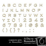A Day To Remember Alphabet 2-$1.00 (Carolyn Kite)