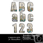 Another Day In Paradise Alphabet Pack-$1.00 (Carolyn Kite)