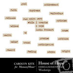 House of Hope WordArt-$2.49 (Carolyn Kite)